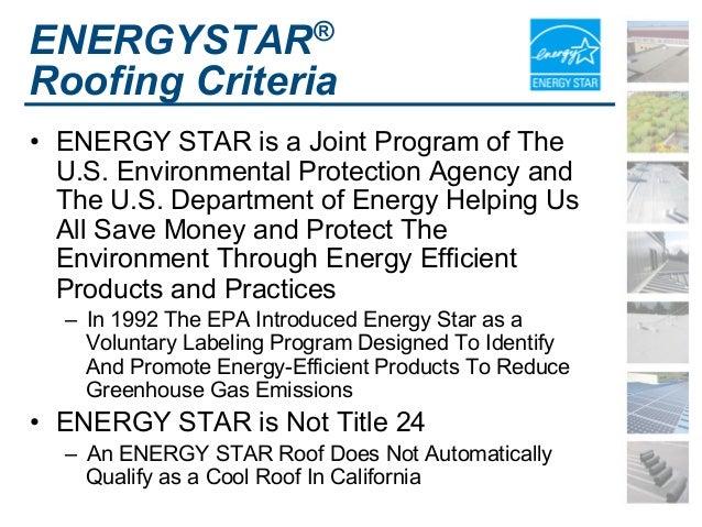 ENERGYSTAR® Roofing ...