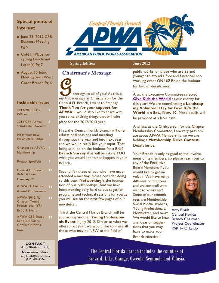 Special points ofinterest:  June 28, 2012 CFB  Business Meeting  Pg 5  Cold In-Place Re-  cycling Lunch and  Learn(s) Pg 7...