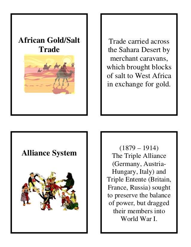 African Gold/SaltTradeAlliance SystemTrade carried acrossthe Sahara Desert bymerchant caravans,which brought blocksof salt...