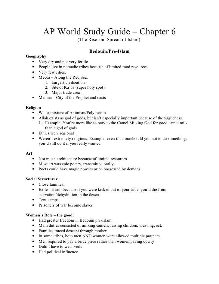 Ap world history unit 2 study