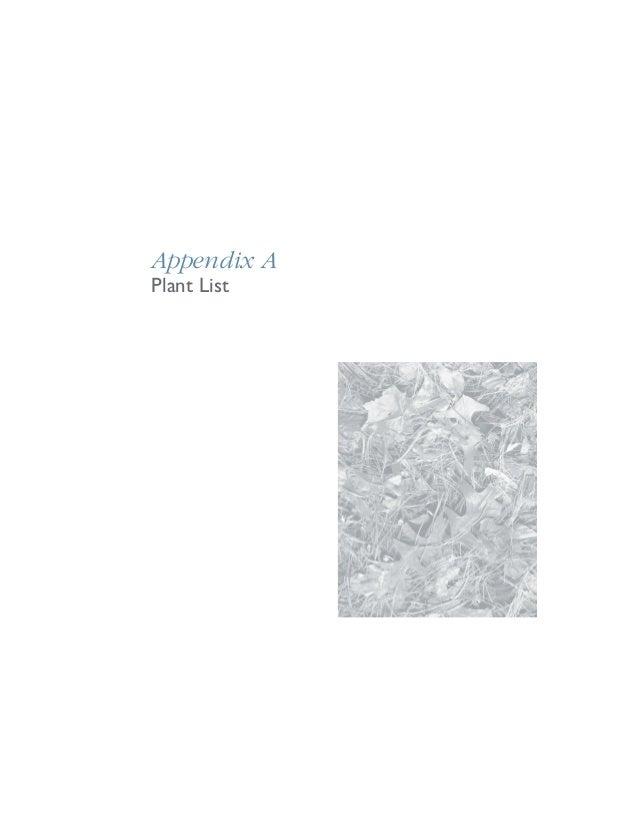Appendix APlant List