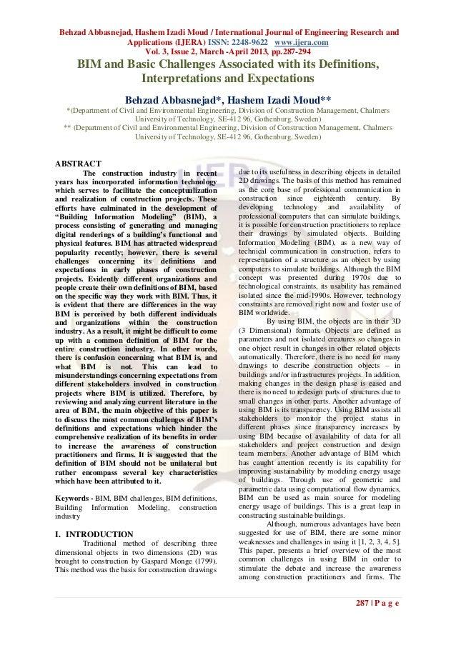 Behzad Abbasnejad, Hashem Izadi Moud / International Journal of Engineering Research and                 Applications (IJE...