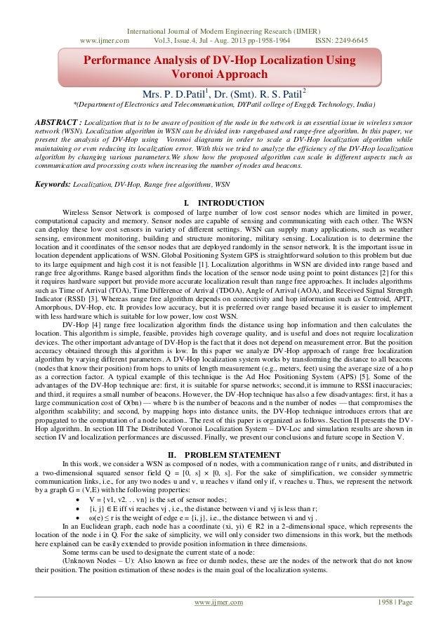 International Journal of Modern Engineering Research (IJMER) www.ijmer.com Vol.3, Issue.4, Jul - Aug. 2013 pp-1958-1964 IS...