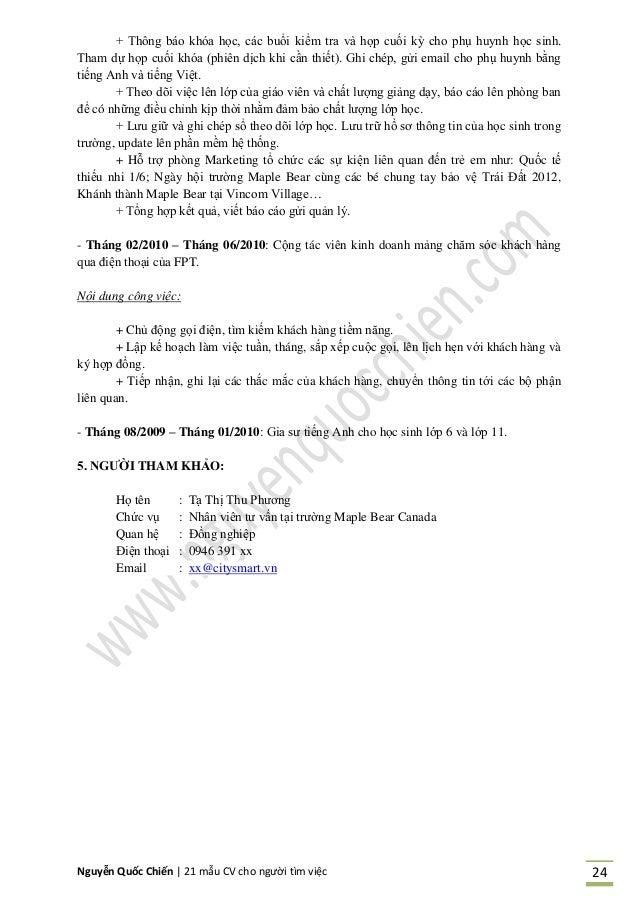 Nguyễn Quốc Chiến   21 mẫu CV cho người tìm việc 24 + Thông áo khóa học, các uổi kiểm tra và họp cuối kỳ cho phụ huynh học...