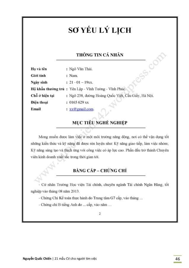 Nguyễn Quốc Chiến   21 mẫu CV cho người tìm việc 46