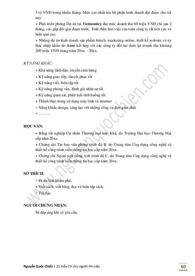 Nguyễn Quốc Chiến   21 mẫu CV cho người tìm việc 60 5 tỷ VNĐ trong nhiều tháng. Mức cao nhất mà bộ phận kinh doanh đạt đượ...