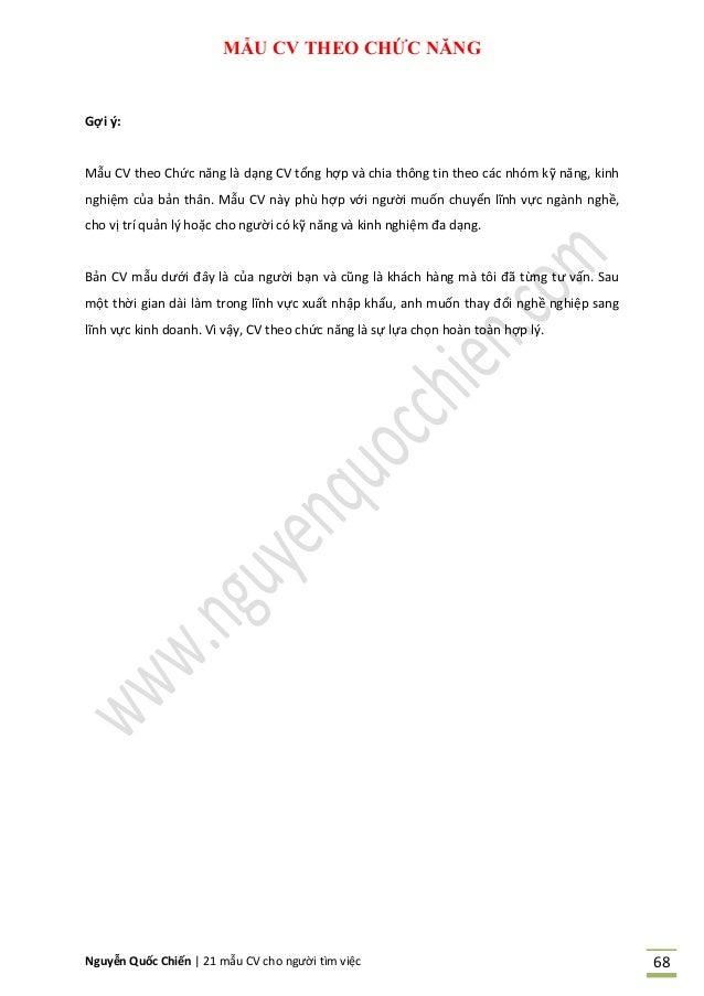 NQC - 21 mẫu CV cho người tìm việc (2014) - Tái bản lần 1