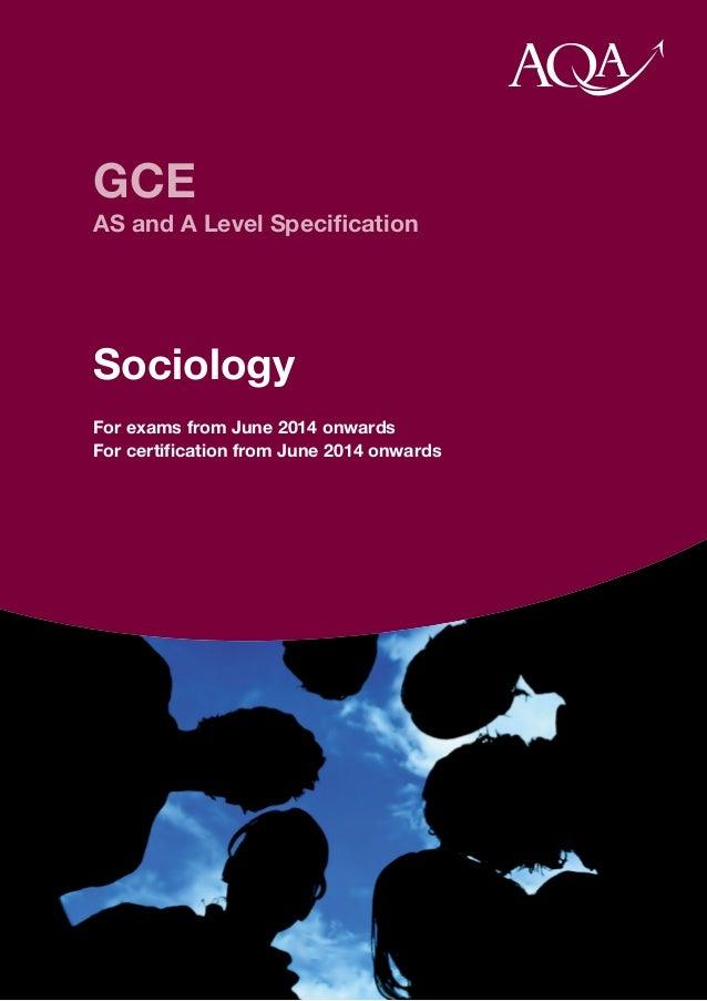 AQA specification sociology