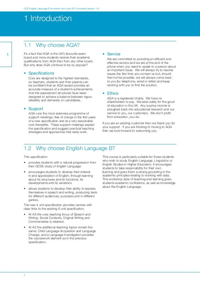 aqa gcse english coursework mark scheme