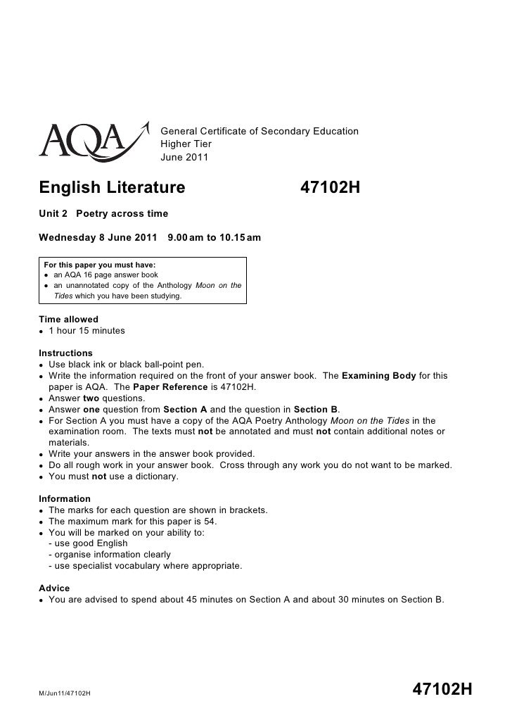 aqa a marriage unseen poem Find past papers and mark schemes for aqa exams, and specimen papers for new courses.