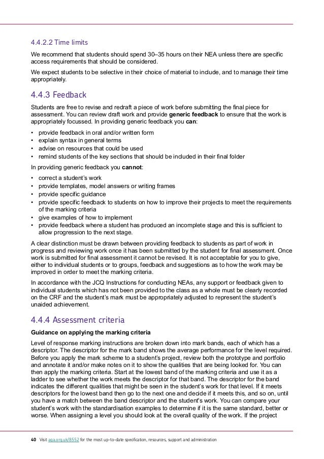 aqa gcse english coursework criteria The aqa a shakespeare coursework is what is termed as a 'cross-over' piece therefore, if you are using it for assessment for both english and english literature gcses (the most common approach), you need to be able to address the assessment objectives for both.