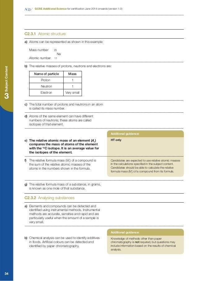 aqa science c2 3.1 homework sheet answers