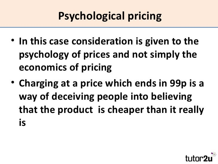 psychological pricing strategy advantages and disadvantages