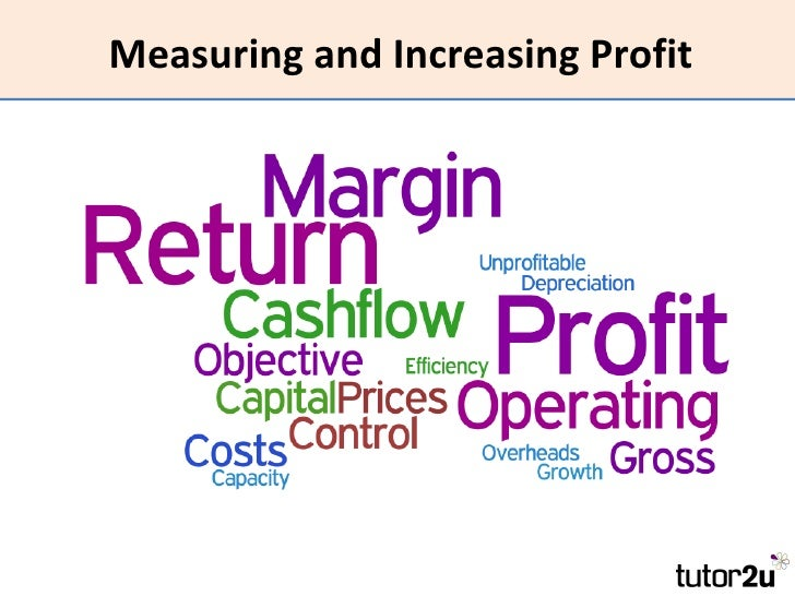 Measuring and Increasing Profit