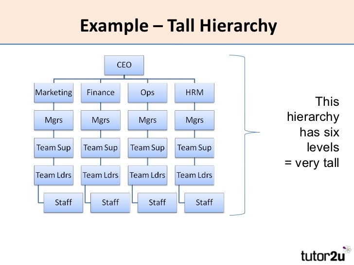 hierarchical organizational structure