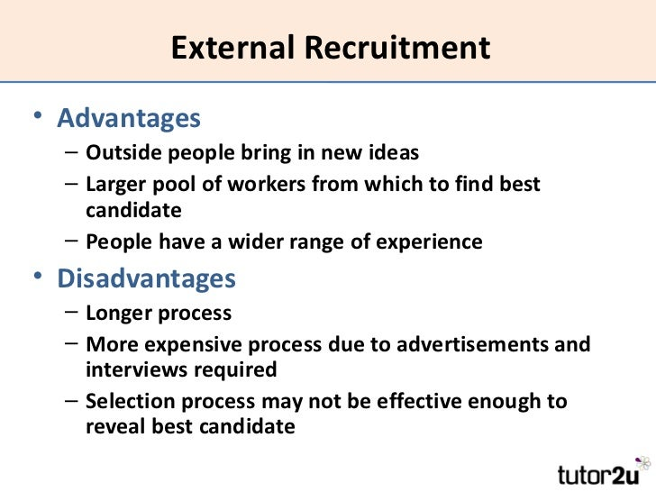 benefits associated with external recruitment