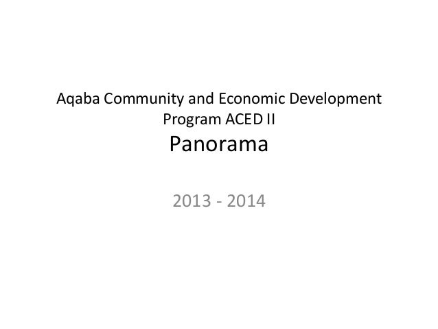 Aqaba Community and Economic Development Program ACED II Panorama  2013 - 2014