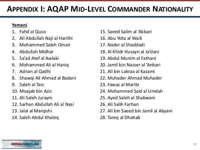 Al Qaeda In The Arabian Peninsula Mid Level Leadership