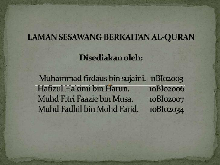 Klik                         untuk                        kembali  Klik untuk memilihtajuk yang terkandung    dalam Al-Quran