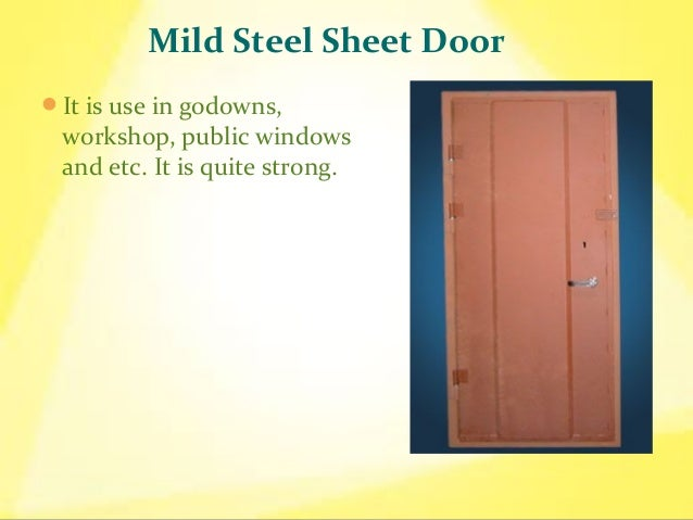 Types Of Steel Doors