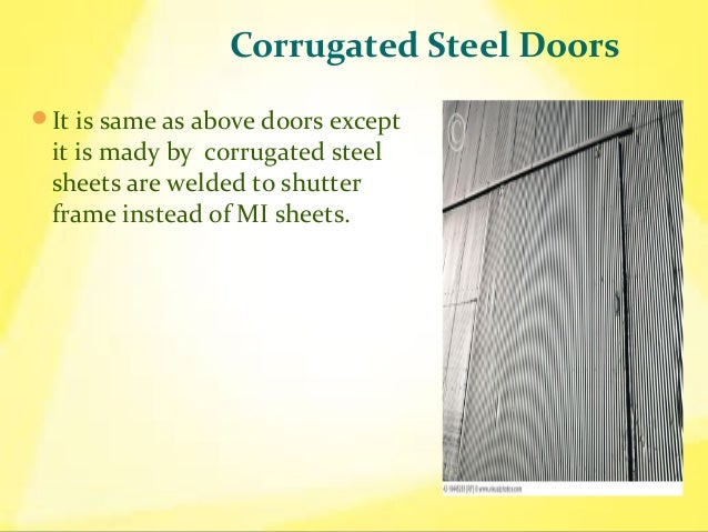 mild steel sheet door 8