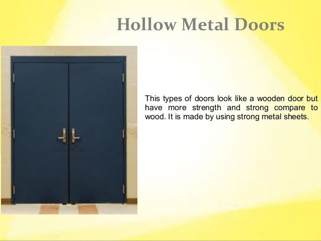 Types of steel doors for Types of doors