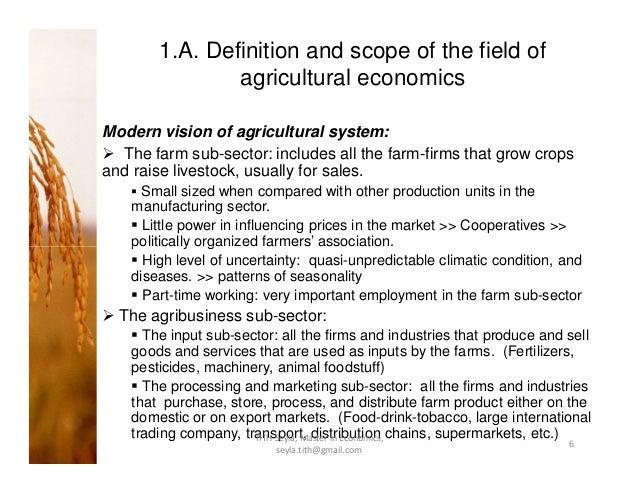 Agricultural Economics Ppt