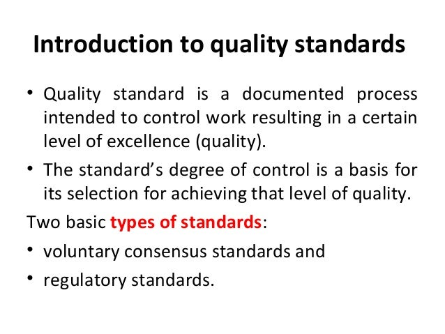 APPAREL QUALITY STANDARD AND IMPLEMENTATION Quality Standards