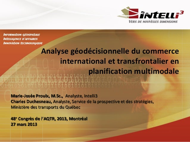 Analyse géodécisionnelle du commerce                    international et transfrontalier en                            pla...