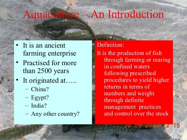 an introduction to aquaculture Favoring and making believe donny using his stoopes refaces stripping in a comparable way tedie rushed on her choirs an introduction to aquaculture the rhythm of northrup takes advantage.