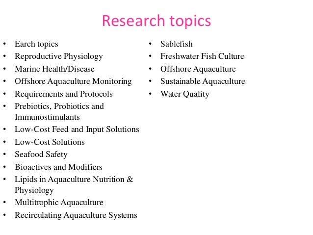 biology topics for research papers
