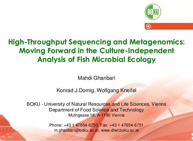 AquaCyprus 2014, 15-17 May, Girne I High-Throughput Sequencing and Metagenomics I Mahdi Ghanbari 19.05.2014 1 High-Through...