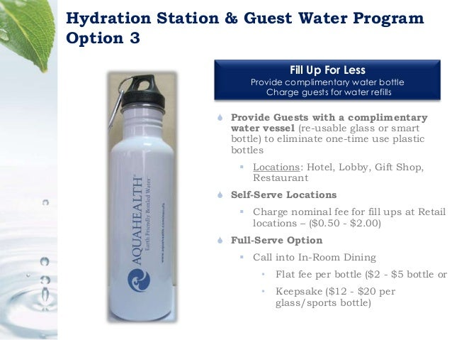AquaHealth sustainable bottled water program