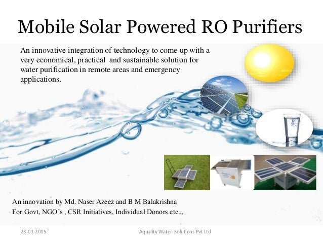 Portable Solar Powered RO Purifiers_Aquality water solutions_Indovati…
