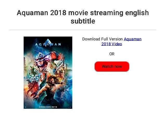 aquaman english subtitles download