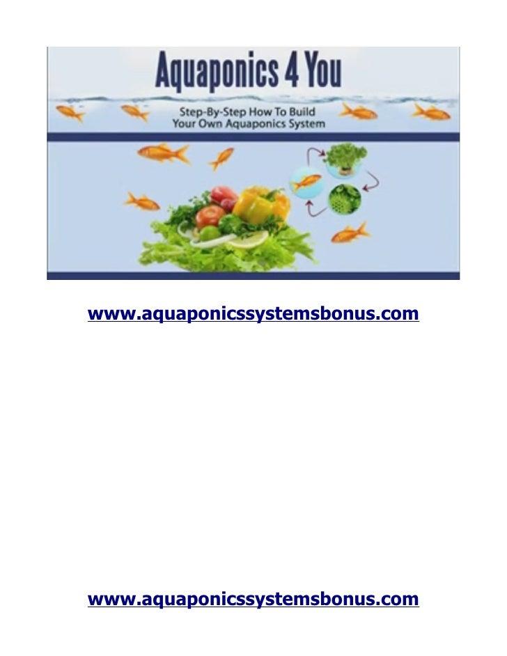 www.aquaponicssystemsbonus.comwww.aquaponicssystemsbonus.com
