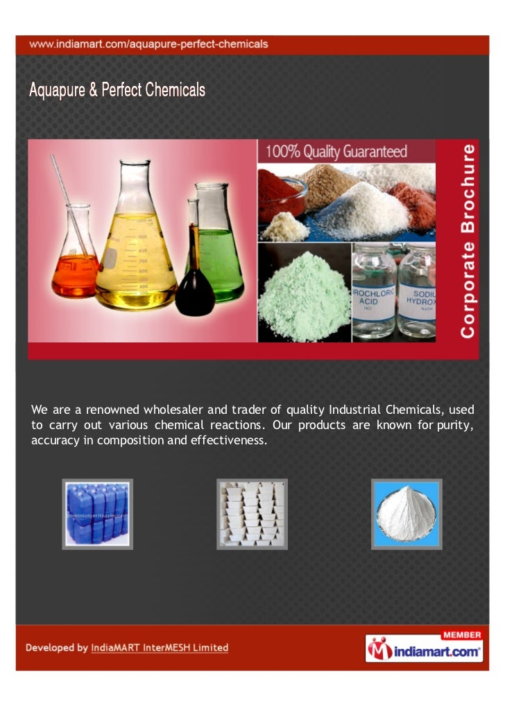 We are a renowned wholesaler and trader of quality Industrial Chemicals, usedto carry out various chemical reactions. Our ...