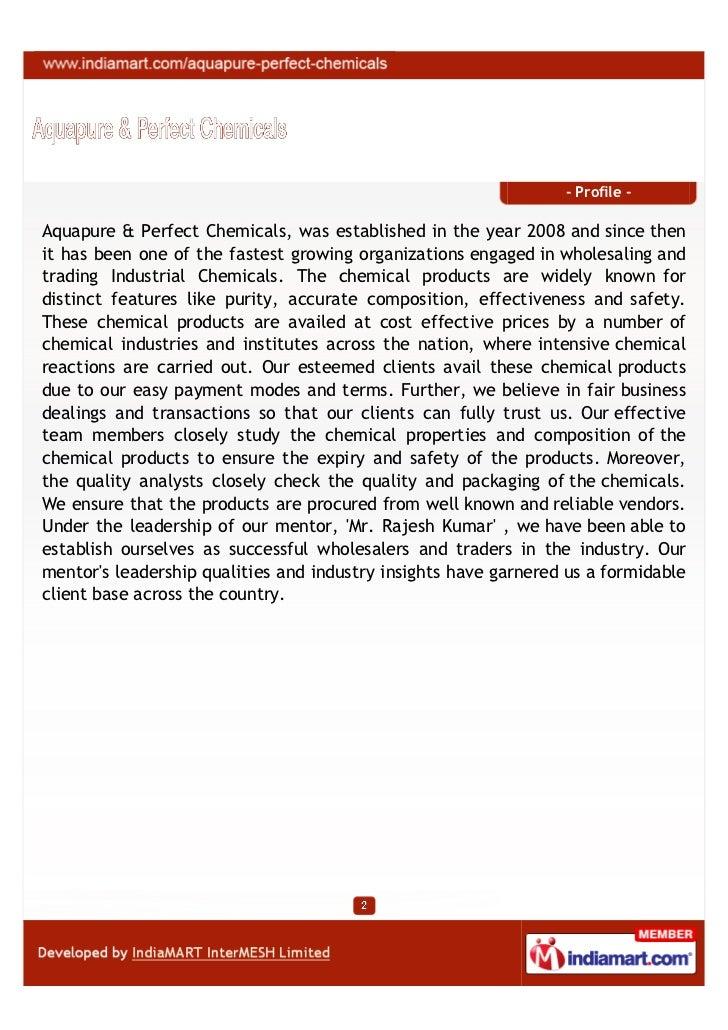 Aquapure & Perfect Chemicals, Bengaluru, Industrial Chemicals Slide 2