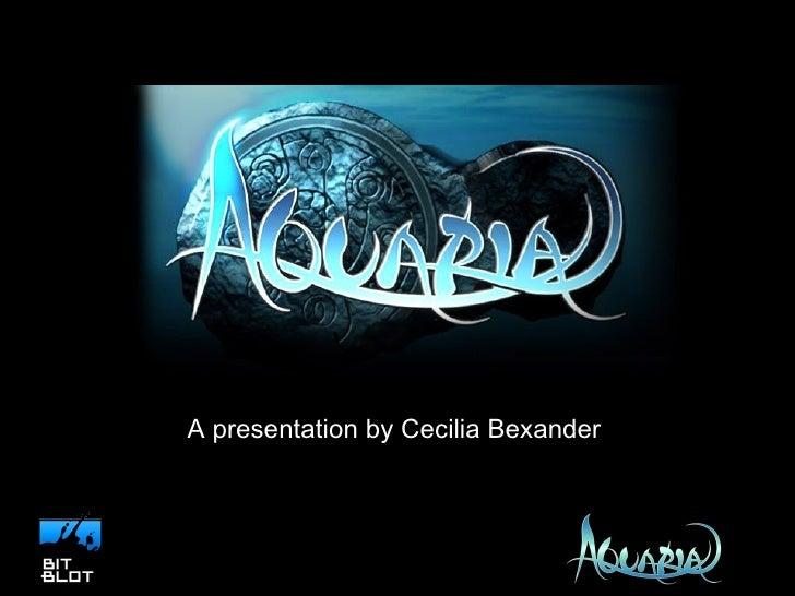 A presentation by Cecilia Bexander