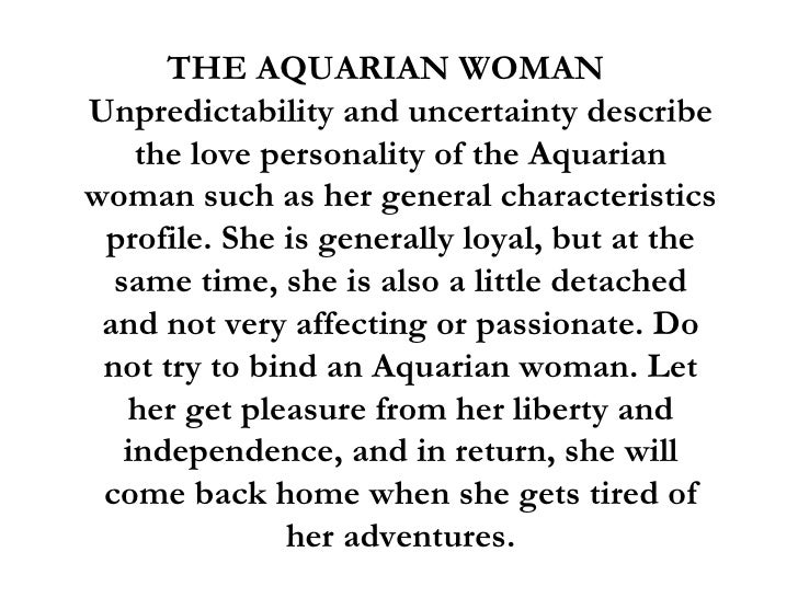 Know things about woman to aquarius 8 Things