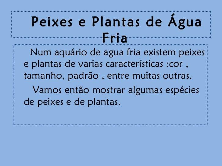 Aquario de agua fria3 for Plantas para estanques de agua fria