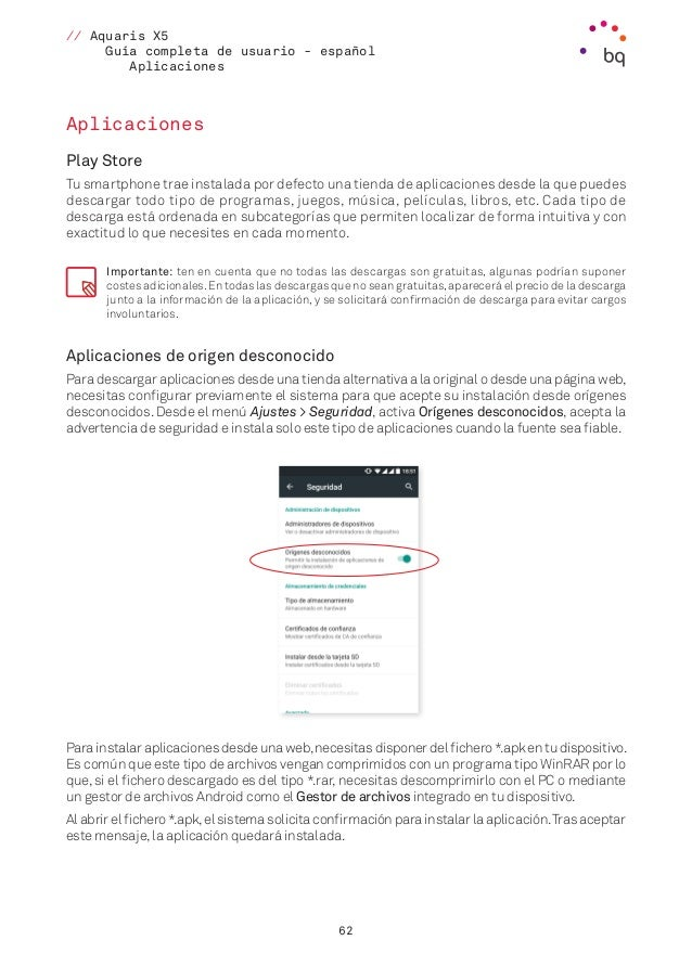 Guía de usuario BQ Aquaris X5