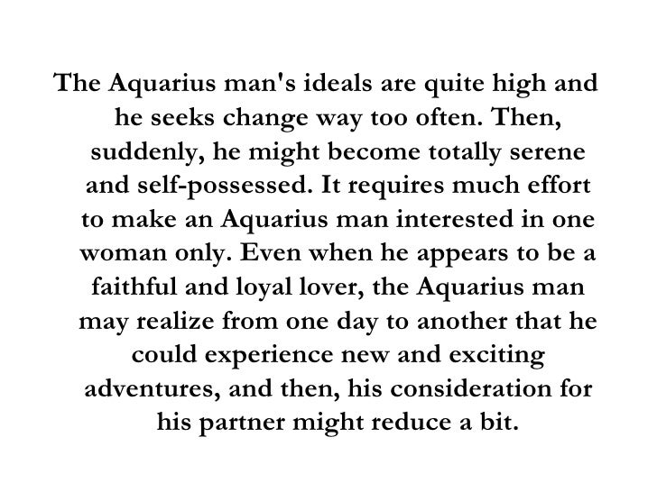 What attracts aquarius men