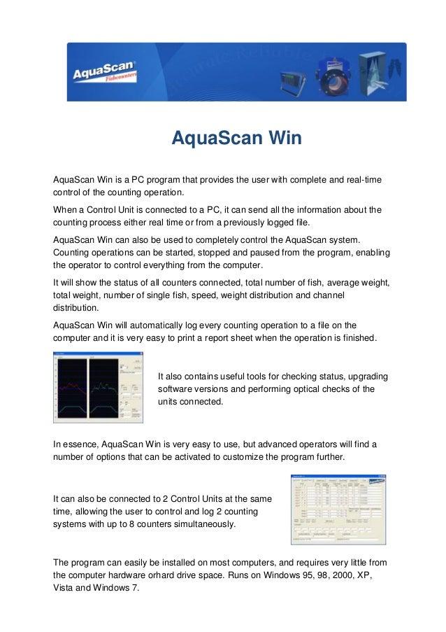 Aqua scan win english