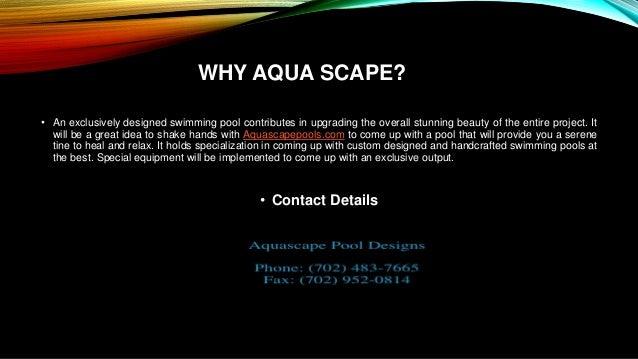 Aquascape Pool Designs