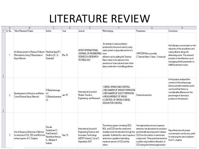 literature review air pollution
