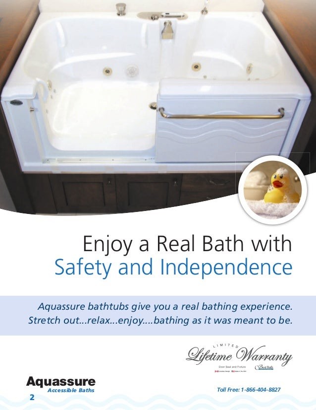 Amazing Aquassure Brochure Active Living Spa Wheelchair Accessible Slide In Bathtub