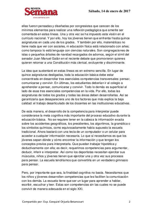Sábado, 14 de enero de 2017 Compartido por: Esp. Ezequiel Orjuela Betancourt 2 ellas fueron pensadas y diseñadas por congr...