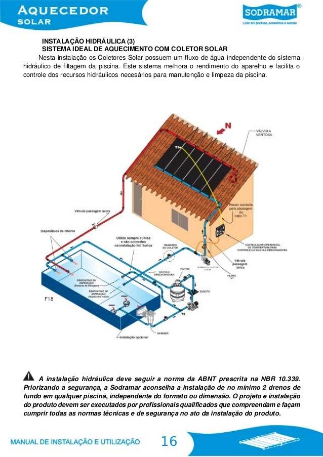 Aquecedor solar for Esquema hidraulico piscina