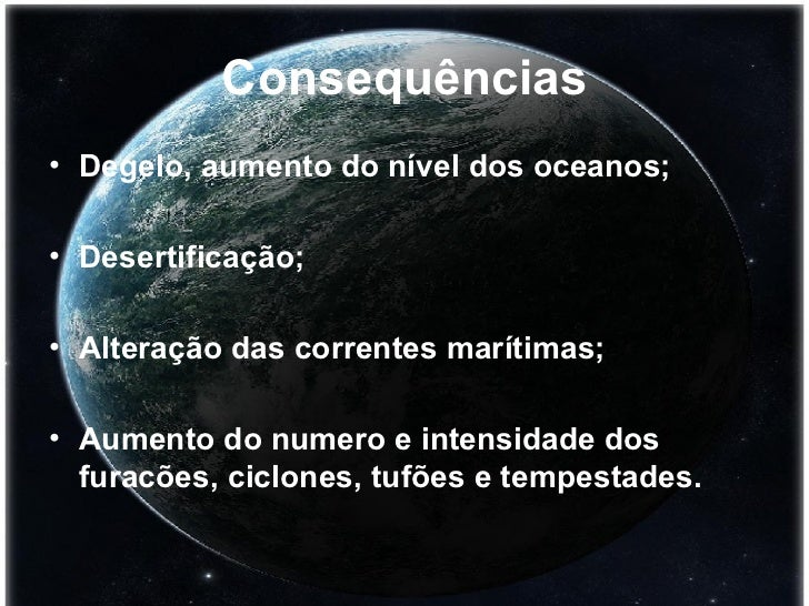slide sobre aquecimento global para